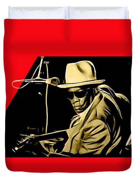 John Lee Hooker Collection Duvet Cover by Marvin Blaine