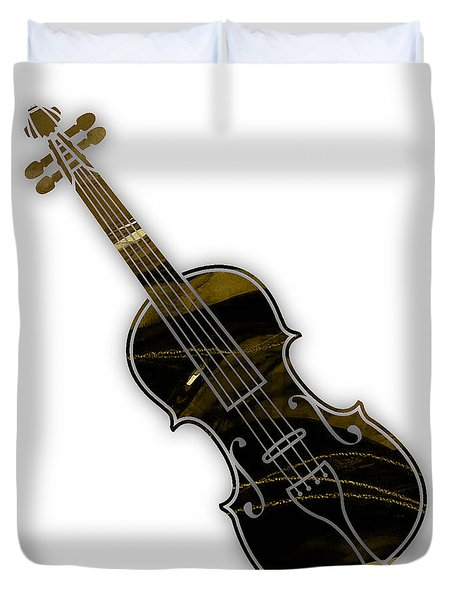 Violin Collection Duvet Cover by Marvin Blaine