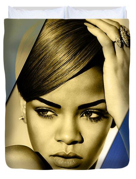 Rihanna Collection Duvet Cover by Marvin Blaine