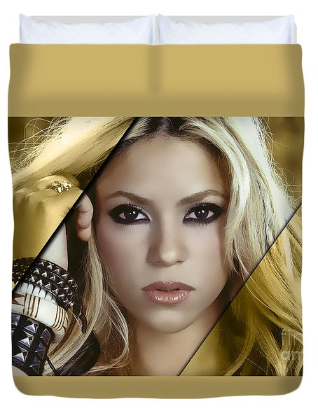 Shakira Collection Duvet Cover by Marvin Blaine