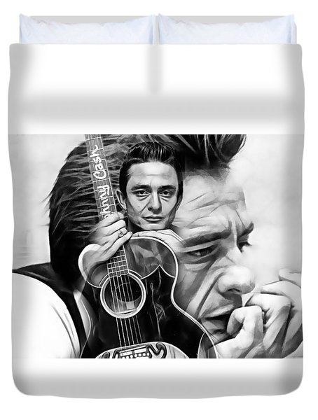 Johnny Cash Collection Duvet Cover by Marvin Blaine