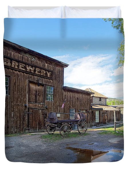 1863 H. S. Gilbert Brewery - Virginia City Ghost Town Duvet Cover by Daniel Hagerman