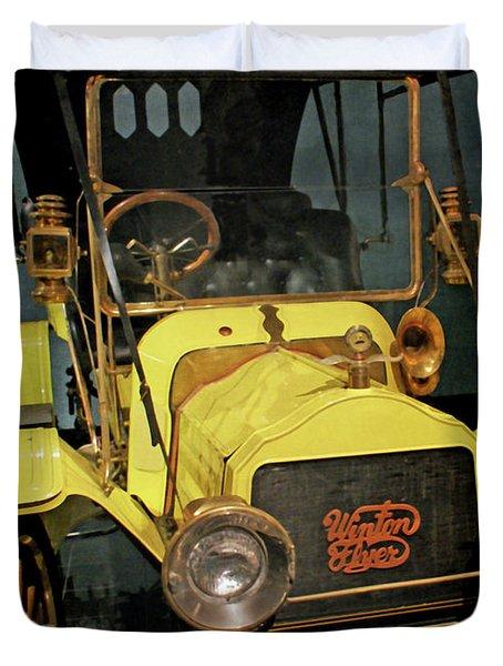 1904 Winton Flyer Duvet Cover by Ernie Echols