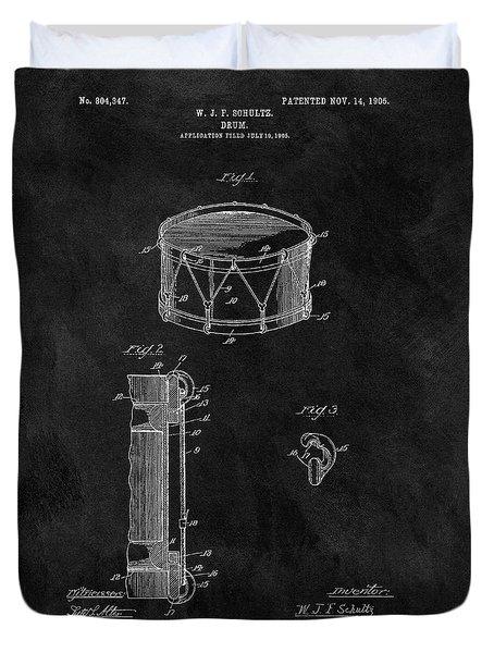 1905 Drum Patent Illustration Duvet Cover by Dan Sproul