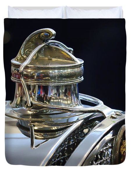 1929 Packard 8 Hood Ornament 3 Duvet Cover by Jill Reger