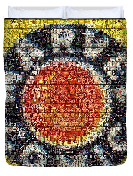 1930s Marvel Comics Mosaic Duvet Cover by Paul Van Scott