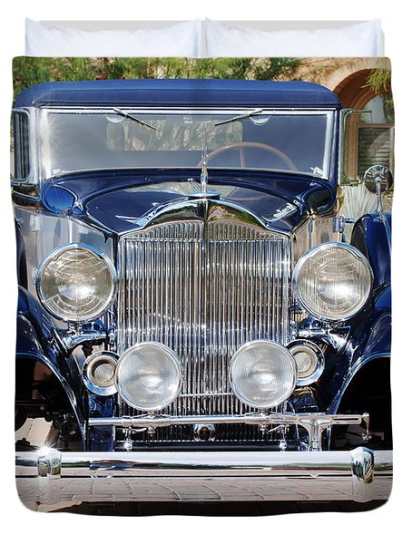 1933 Packard 12 Convertible Coupe Duvet Cover by Jill Reger