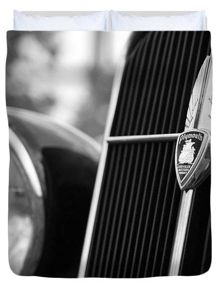1935 Plymouth Emblem - Chrysler Motors Product Duvet Cover by Gordon Dean II
