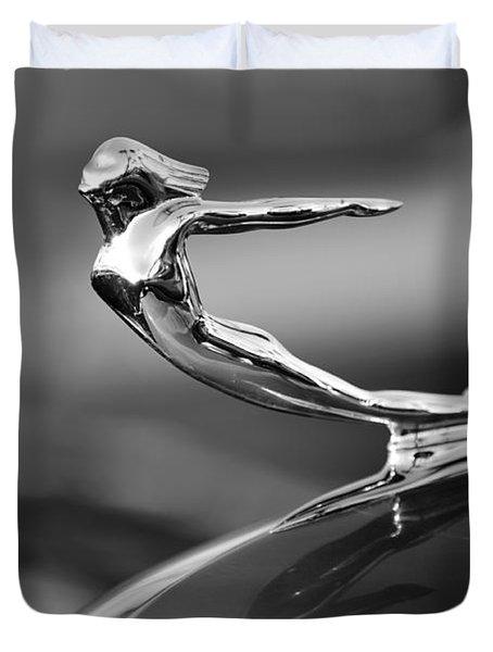 1936 Cadillac Hood Ornament 3 Duvet Cover by Jill Reger