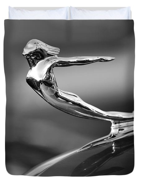 1936 Cadillac Hood Ornament 3 Duvet Cover by Jill Reger