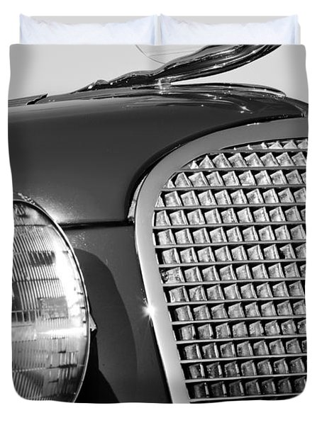 1937 Cadillac V8 Hood Ornament 3 Duvet Cover by Jill Reger