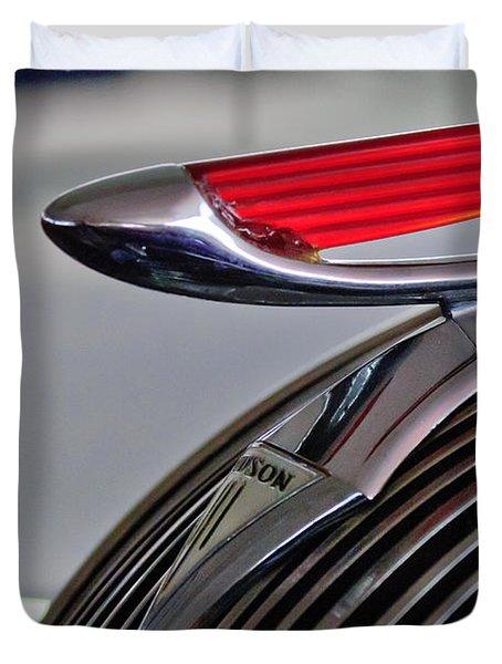 1937 Hudson Terraplane Sedan Hood Ornament Duvet Cover by Jill Reger
