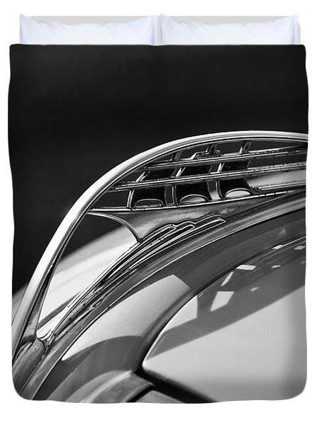 1937 Plymouth Hood Ornament 3 Duvet Cover by Jill Reger