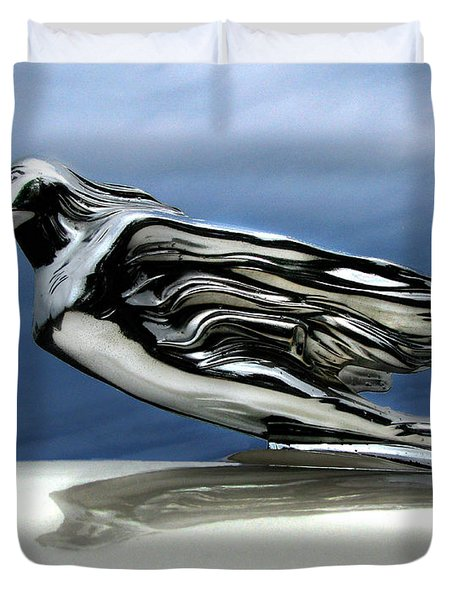 1941 Cadillac Emblem Abstract Duvet Cover by Peter Piatt