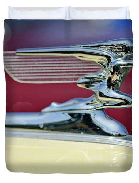 1941 Packard Hood Ornament 3 Duvet Cover by Jill Reger