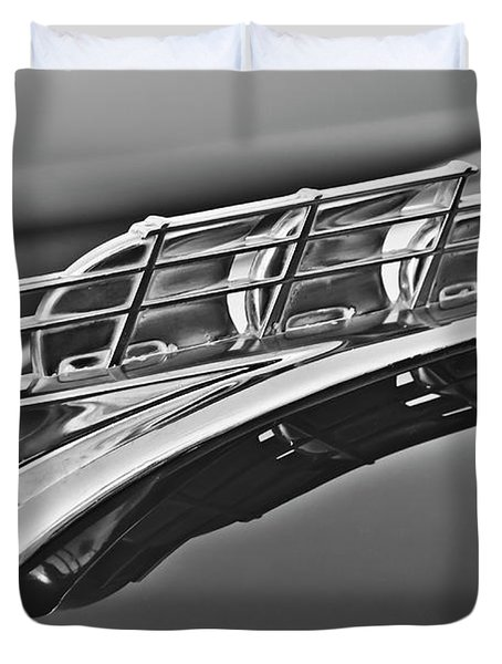 1949 Plymouth Hood Ornament 2 Duvet Cover by Jill Reger