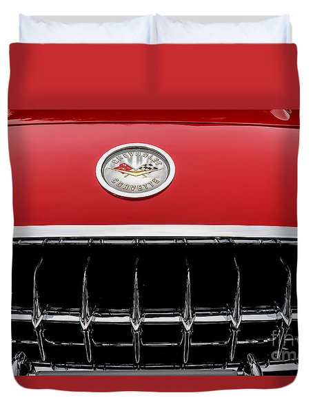 Duvet Cover featuring the photograph 1959 Corvette by M G Whittingham