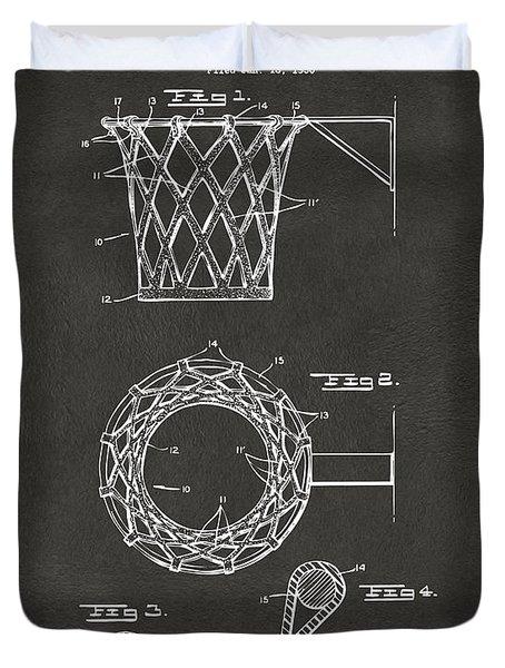 1951 Basketball Net Patent Artwork - Gray Duvet Cover by Nikki Marie Smith