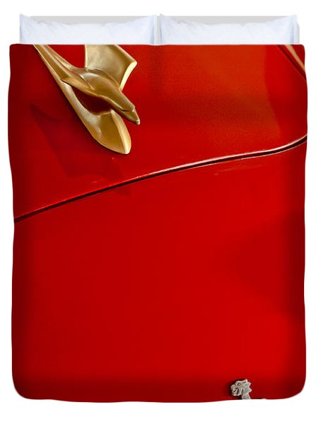 1951 Crosley Hot Shot Hood Ornament Duvet Cover by Jill Reger