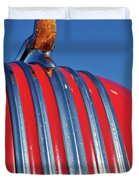1951 Pontiac Chief Hood Ornament 2 Duvet Cover by Jill Reger