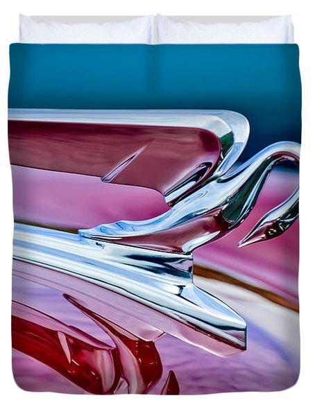 1952 Packard 400 Hood Ornament Duvet Cover by Jill Reger