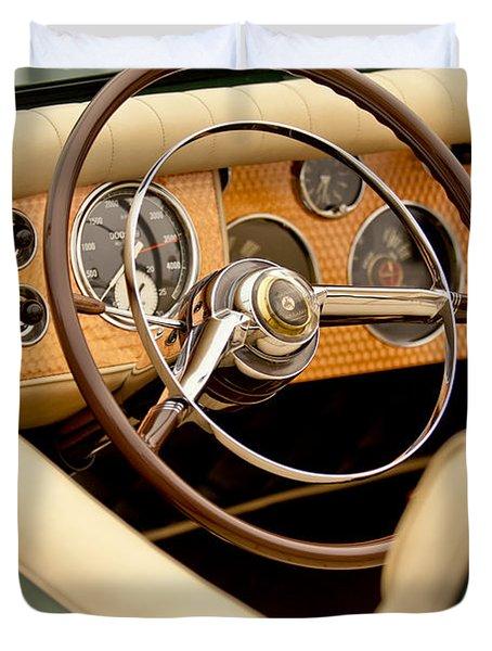 1952 Sterling Gladwin Maverick Sportster Steering Wheel Duvet Cover by Jill Reger