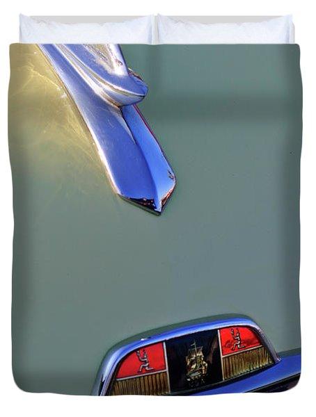 1953 Plymouth Hood Ornament Duvet Cover by Jill Reger