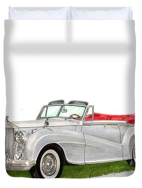 1953 Rolls Royce Silver Dawn Duvet Cover by Jack Pumphrey