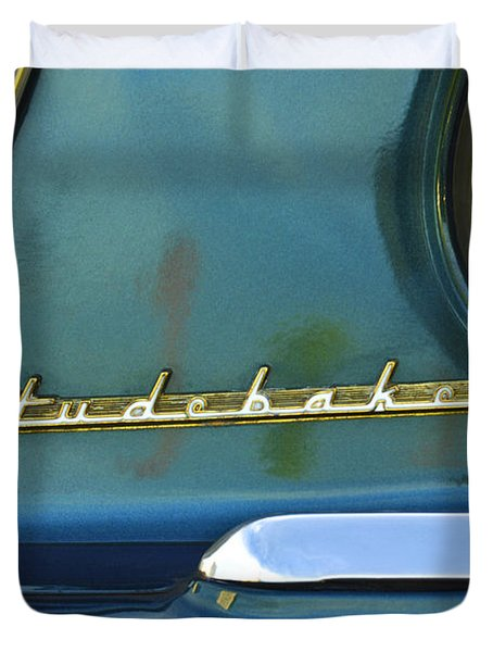 1953 Studebaker Champion Starliner Abstract Duvet Cover by Jill Reger