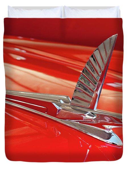 1954 Ford Cresline Sunliner Hood Ornament 2 Duvet Cover by Jill Reger