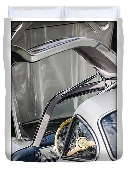 1954 Mercedes-benz 300sl Gullwing Duvet Cover by Jill Reger