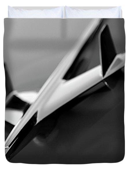 1955 Chevrolet Belair Hood Ornament 2 Duvet Cover by Jill Reger