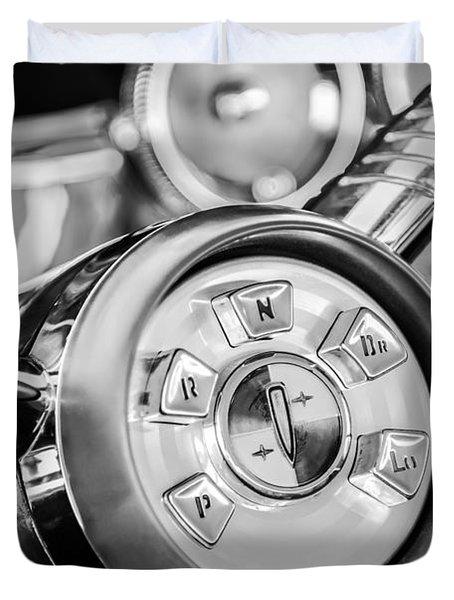 1958 Edsel Ranger Push Button Transmission 2 Duvet Cover by Jill Reger