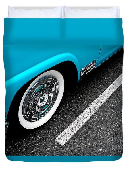 Duvet Cover featuring the photograph 1958 Ford Crown Victoria by M G Whittingham