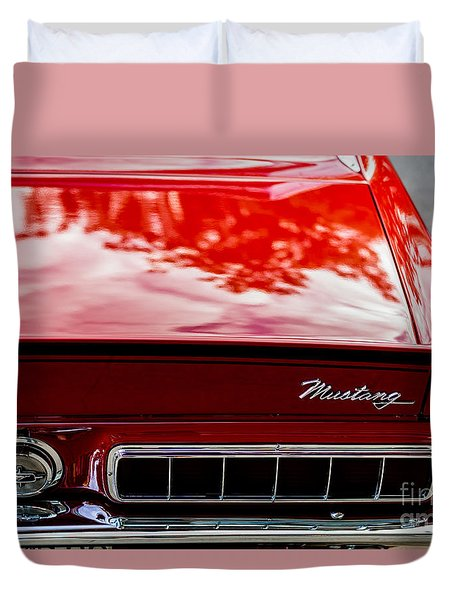 Duvet Cover featuring the photograph 1967 Mustang by M G Whittingham