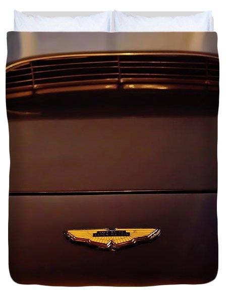 1961 Aston Martin Db4 Coupe Emblem Duvet Cover by Jill Reger