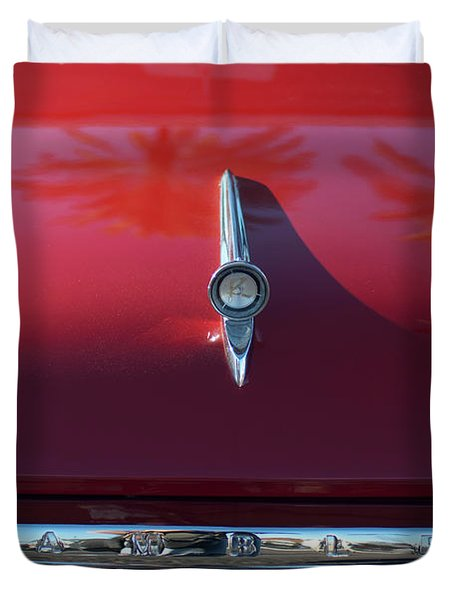 1961 Rambler Hood Ornament 2 Duvet Cover by Jill Reger