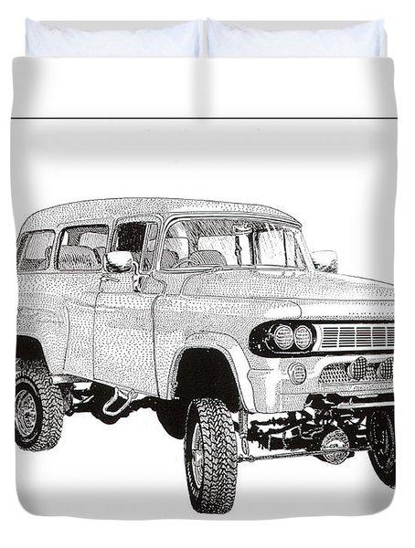 1962 Dodge Powerwagon Duvet Cover by Jack Pumphrey