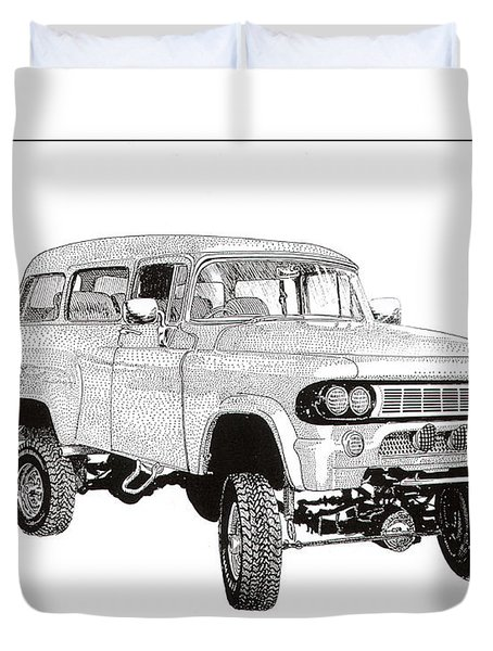 1962 Dodge Powerwagon Duvet Cover by Jack Pumphrey
