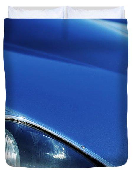 1963 Jaguar Xke Roadster Headlight Duvet Cover by Jill Reger