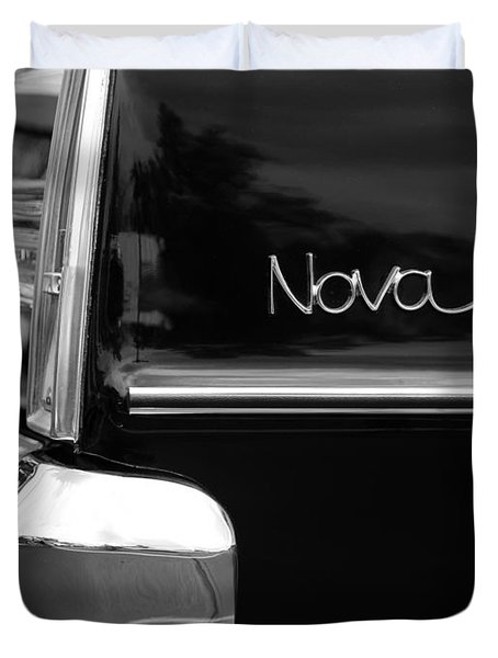 1966 Chevy Nova II Duvet Cover by Gordon Dean II