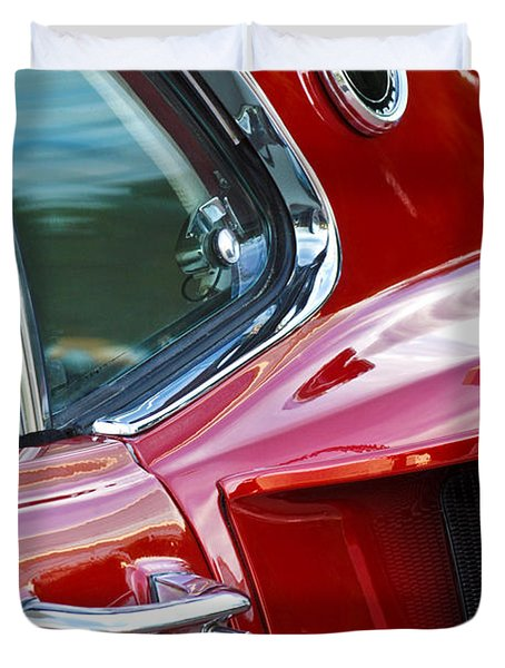 1969 Ford Mustang Mach 1 Side Scoop Duvet Cover by Jill Reger