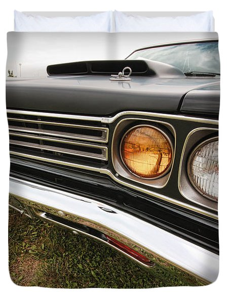 1969 Plymouth Road Runner 440-6 Duvet Cover by Gordon Dean II