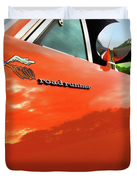 1969 Plymouth Road Runner 440 Roadrunner Duvet Cover by Gordon Dean II