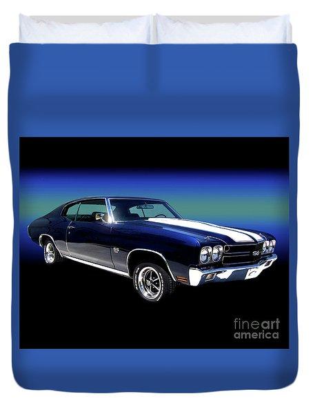 1970 Chevelle Ss Duvet Cover by Peter Piatt