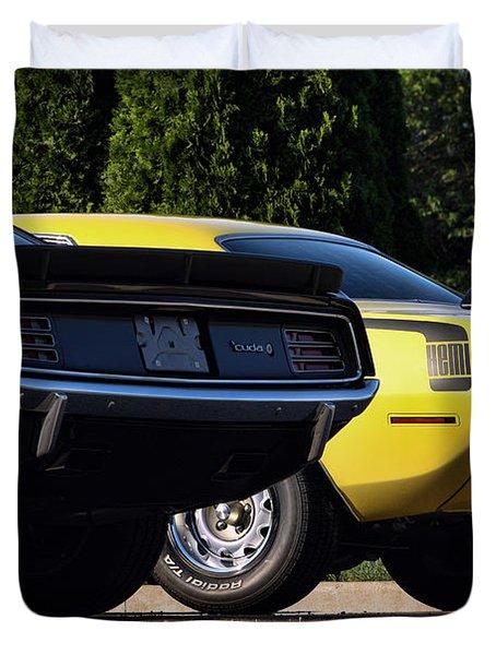 1970 Plymouth 'Cuda 440 and HEMI Duvet Cover by Gordon Dean II