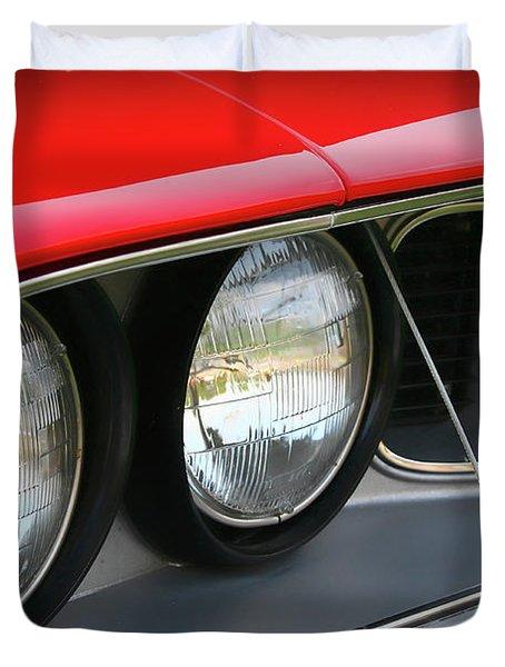 1971 Plymouth Barracuda Cuda Red  Duvet Cover by Gordon Dean II