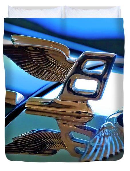1980 Bentley Hood Ornament Duvet Cover by Jill Reger