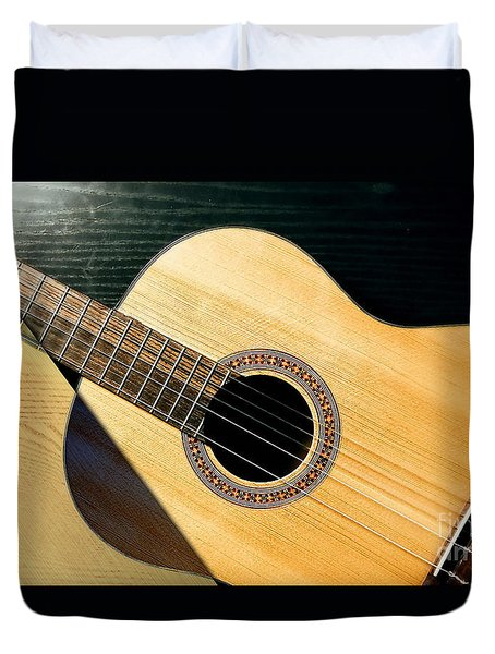 Acoustic Guitar Collection Duvet Cover by Marvin Blaine