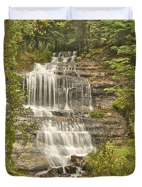 Alger Falls Duvet Cover by Michael Peychich